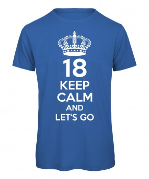 18. Geburtstag Keep Calm Royalblau