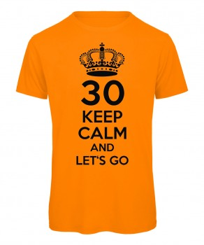 Keep Calm And Let's Go T-Shirt Neonorange