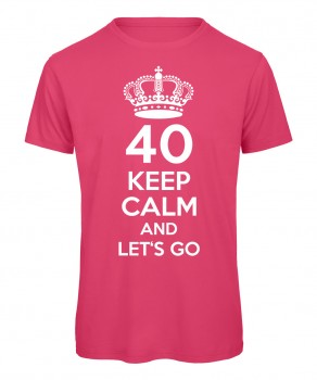40 keep calm and let's go Pink