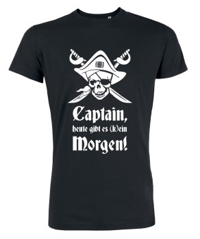 Captain Morgen - JGA T-Shirt Schwarz
