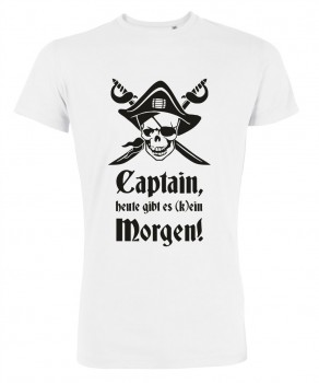 Captain Morgen - JGA T-Shirt Weiß