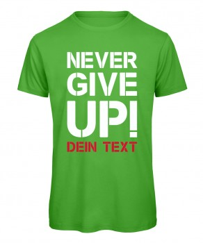 Never give up Fussball T-Shirt Grün