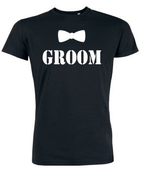 Groom Fliege JGA T-Shirts Schwarz