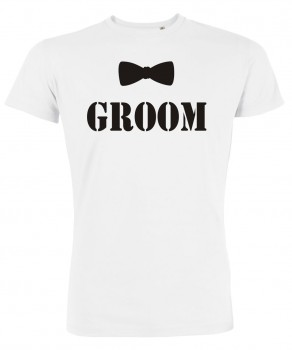 Groom Fliege JGA T-Shirts Weiß