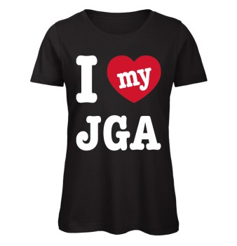 I love my JGA Frauen JGA-Shirt