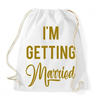 I'm Getting Married - JGA Baumwollrucksack