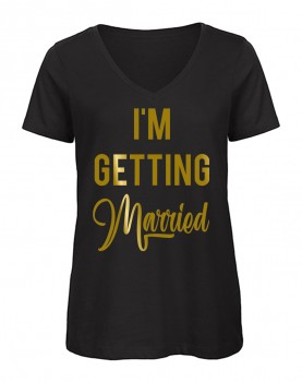 I'm Getting Married V-Neck Schwarz