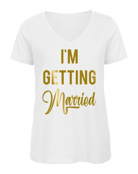 I'm Getting Married V-Neck Weiß