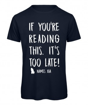 If you reading this its to late JGA T-Shirt Marineblau