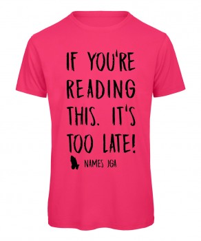 If you reading this its to late JGA T-Shirt Neonpink