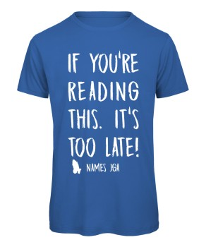 If you reading this its to late JGA T-Shirt Royalblau