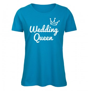 Wedding Queen JGA Frauen T-Shirt Azur