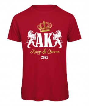 Kings and Queens Rot mit Weiß-Gold Druck
