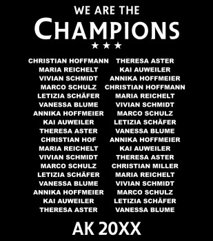 The Champions Leave - Abschluss Namensliste