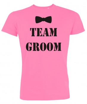 Groom Team Fliege JGA T-Shirt Pink