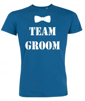 Groom Team Fliege JGA T-Shirt Royalblau