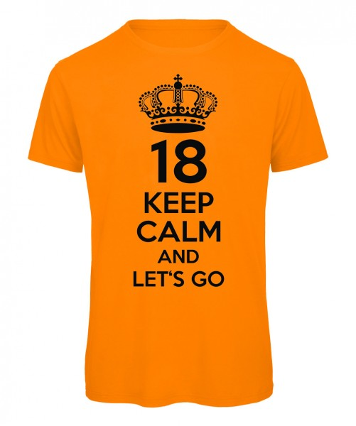 18. Geburtstag Keep Calm Neonorange