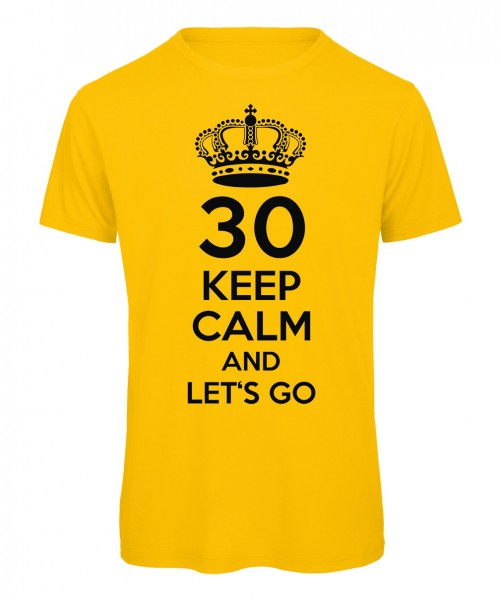 Keep Calm And Let's Go T-Shirt Gelb