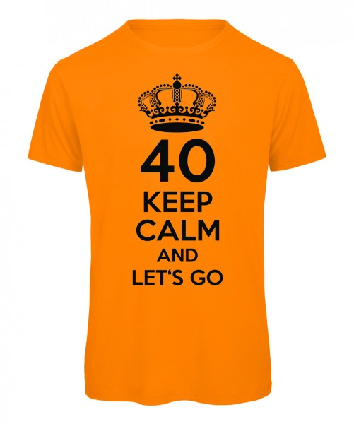 40 keep calm and let's go Neonorange