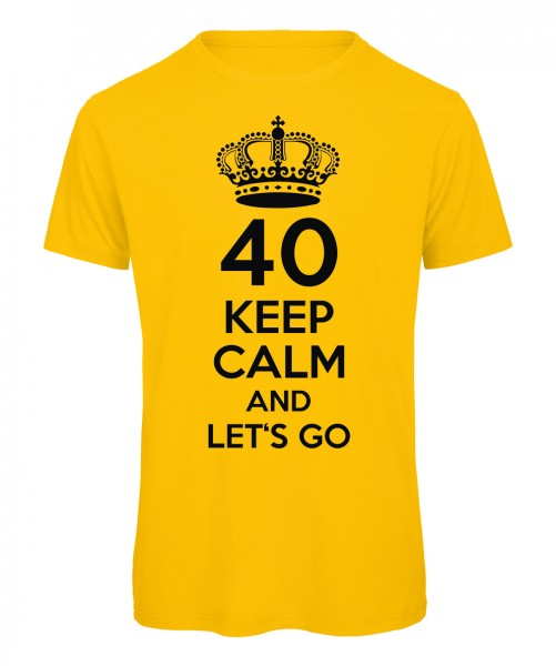 40 keep calm and let's go Gelb