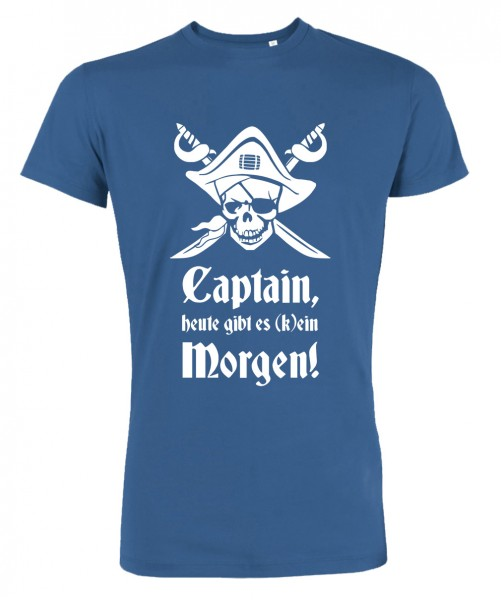 Captain Morgen - JGA T-Shirt Royalblau