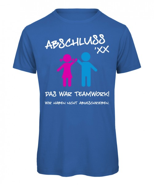 Das war Teamwork Royalblau