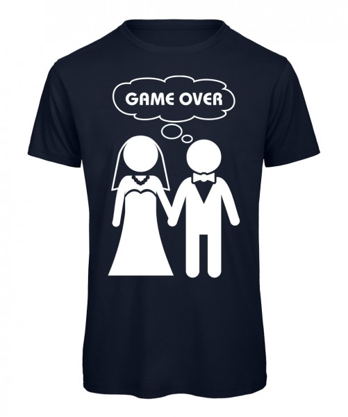 Game Over JGA T-Shirt Marineblau