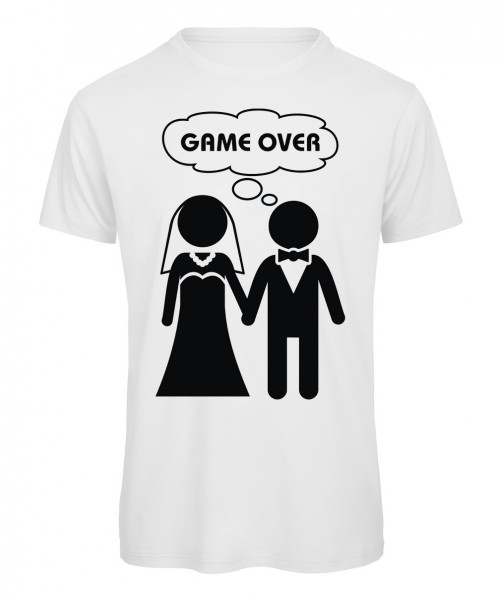 Game Over JGA T-Shirt Weiß