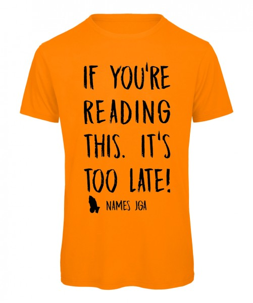 If you reading this its to late JGA T-Shirt Neonorange