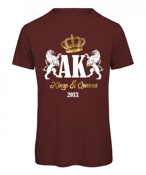 Kings and Queens Bordeaux mit Weiß-Gold Druck