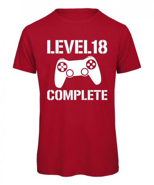 Level 18 Complete. Gamer T-Shirt zum Geburtstag.