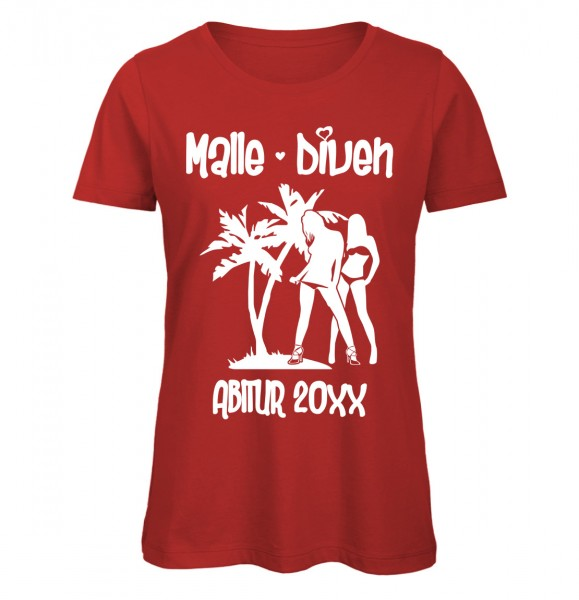 Malle Diven ABI T-Shirt Mädels Rot
