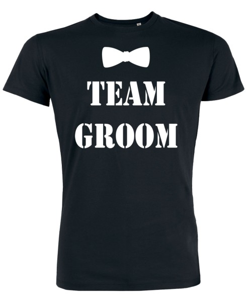Groom Team Fliege JGA T-Shirt Schwarz