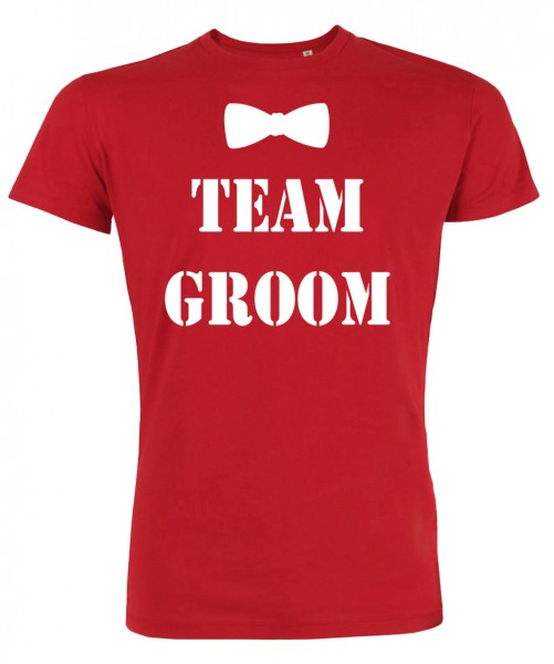 Groom Team Fliege JGA T-Shirt Rot