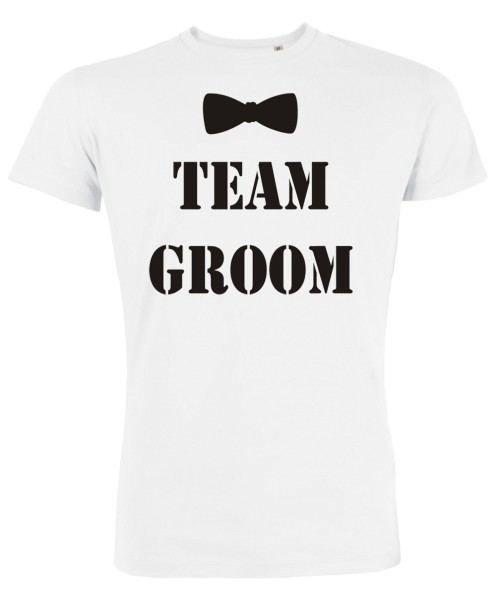 Groom Team Fliege JGA T-Shirt Weiß